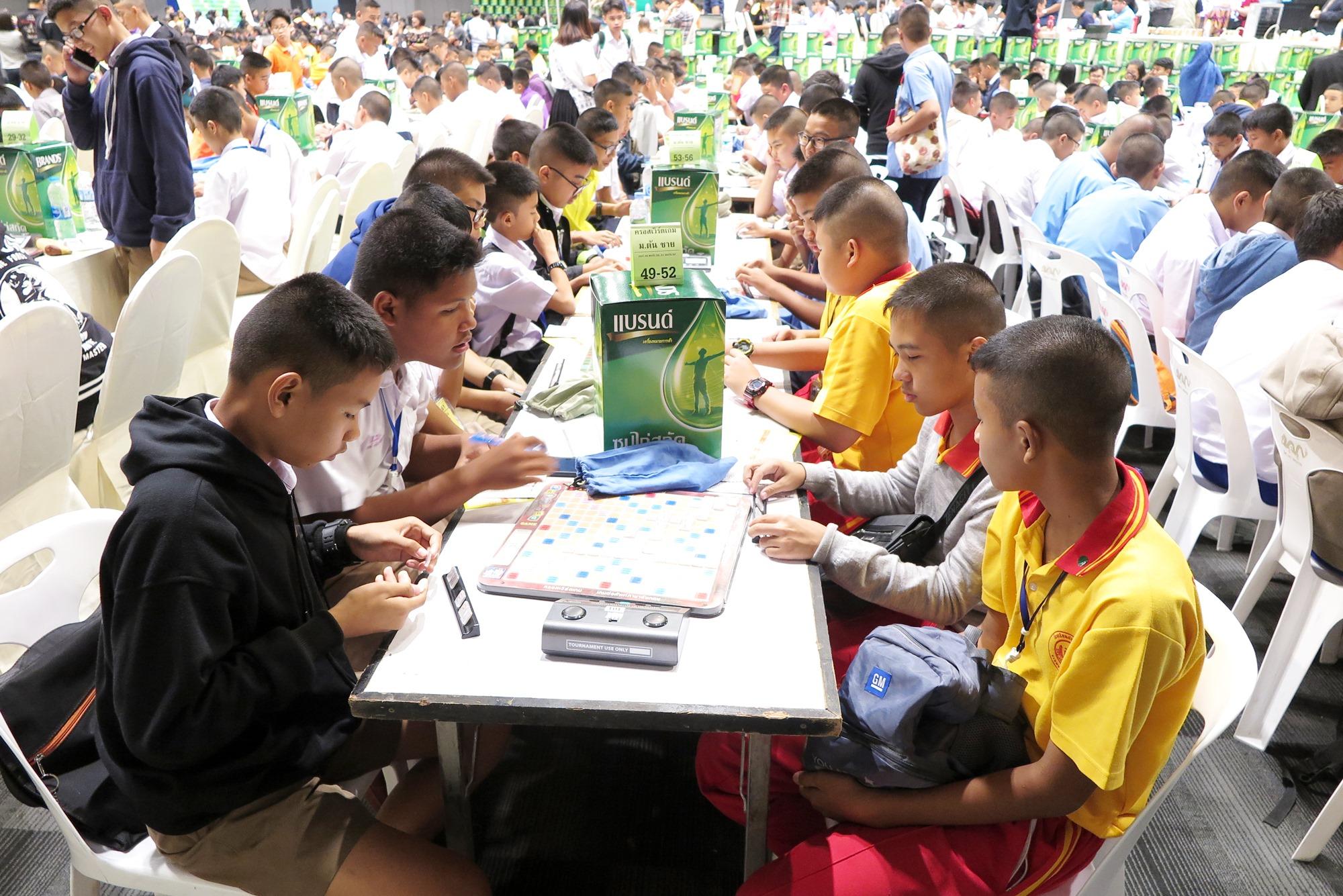 น้องๆ นักเรียนตั้งใจแข่งขันอย่างเต็มที่ และสนุกสนาน