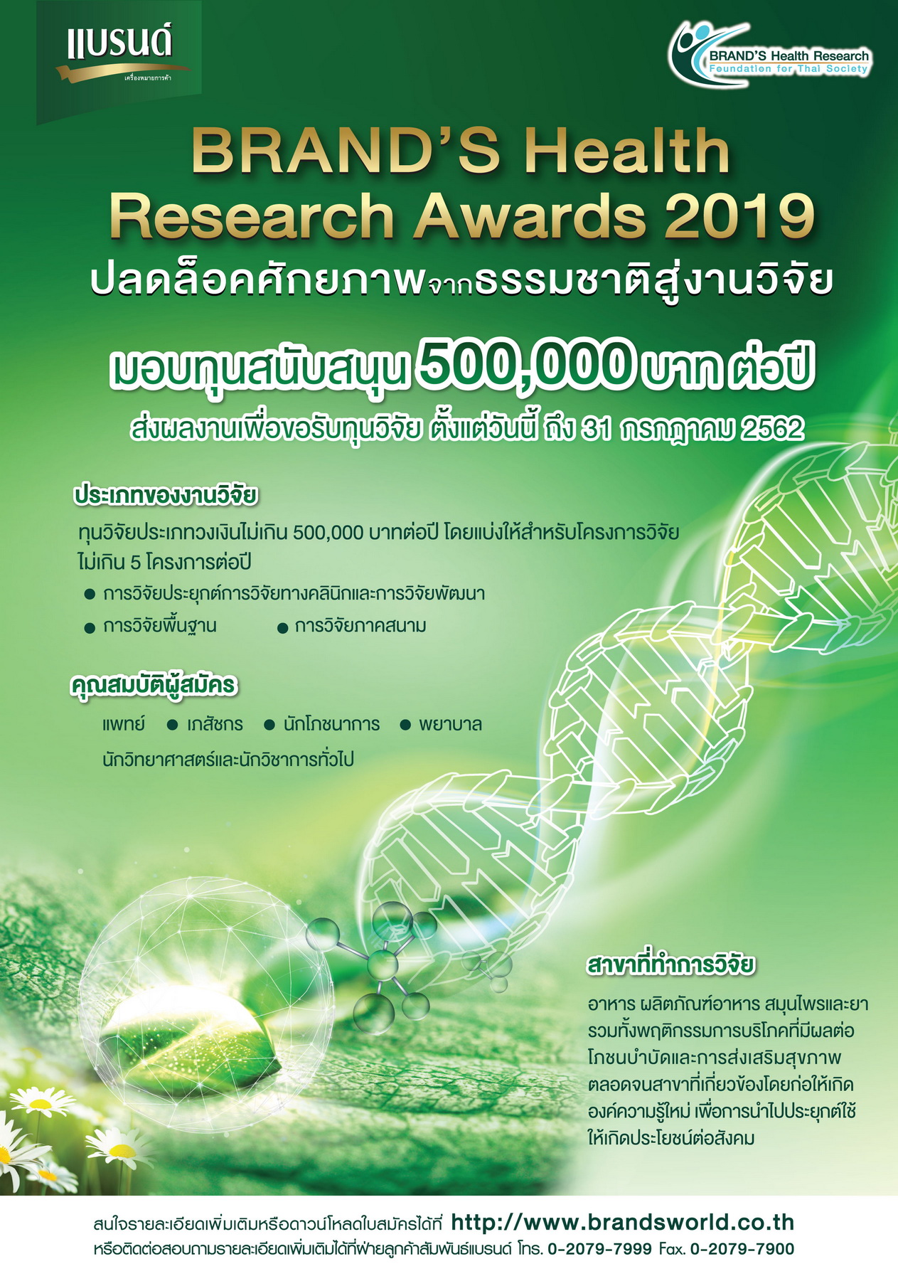 BRAND'S Health Research Awards 2019_resize